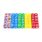 10pcs 13mm transparent six sided spot dice toys D6 RPG role playing game JR