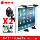 "2x Adjustable 8""-12"" Tablet PC Car Windscreen Windshield Mount Holder Stand"