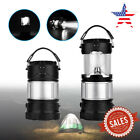 US Outdoor Solar Rechargeable LED Tent Camping Lantern Flashlight USB Power Bank
