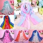 Fashion Scarves Lady Gradient Color Long Wrap Women's Shawl Chiffon Scarf NEW S