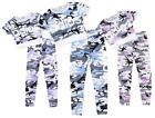 Girls Minx Army Camo Adios Print Crop Top & Leggings Fashion Set 7 to 13 Years