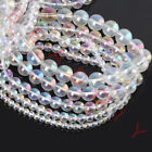 4mm 6mm 8mm 10mm Round Transparent AB CZ Crystal Beads For Jewelry Making