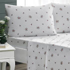 Brielle Fashion 100% Cotton Jersey Floral Rose Bed Linen Collection NEW