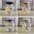 Let Love Light The Way Stars Dreams Shine Brightly Friends Laugh Jars Glass Jar