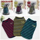 Pet Coat Dog Puppy Sweater Stripes Jacket Clothes Clothing Coat T-shirt Outfit