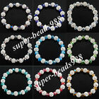 NEW Crystal Faceted Rhinestones Round Beads Stretch Bracelet 7 Inches SBK203