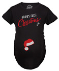 Bumps First Christmas Maternity Shirt Funny Holiday Party Tee For Pregnant Woman