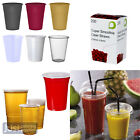Disposable Drinking Plastic Party Cups - Clear/Coloured - Many Sizes and Styles