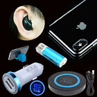 6 Bundle QI Wireless Pad Car Charger Case Bluetooth Earphone For iPhone X 8 Plus