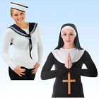 Set für Kostüm Nonne oder Matrosin, Sailor Girl Kostümset Nonnenset Matrosenset