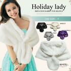 Autumn Winter Warm Scarves Bride Wedding Dress Coat Faux Fur Mink Collar Cloak