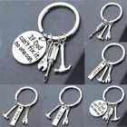 Dad Gift Charm Keyring If Dad Can't Fix It, No one Can Tools Key Chain Hammer