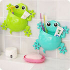 DIY Animal Frog Silicone Toothbrush Holder Family Wall Bathroom Hanger Suction