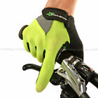 RockBros Full Finger Cycling Gloves Touch Screen Gloves for Cell Phone Green