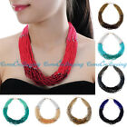Vintage Ethnic Mini Resin Beads Twrist Layers Choker Statement Bib Necklace
