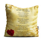 Stepmom You are Very Special Beautiful Vintage Rose Design Poem Throw Pillow