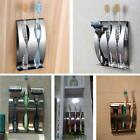 Stainless Steel Wall Mount Toothpaste Dispenser 2/3 Positions Toothbrush Holder