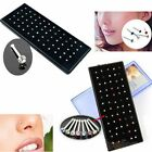 60pcs Crystal Rhinestone Nose Ring Bone Stud Stainless Steel Body Piercing Gift image
