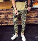 Fashion Mens Camo Slim Fit Pants Suspender Trousers Overalls Skinny Jeans New Sz
