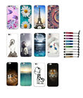 For various Smartphones Gel TPU Soft Cover case Skin fashion design + stylus