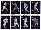 2011 Topps Opening Day Topps Town Codes Baseball Set ** Pick Your Team **