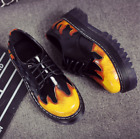 Floral Multi-color Lace Up Round Toe High Hidden Heel Woens Fashion School Shoes