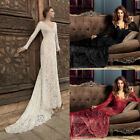 Lace Formal Wedding Bridesmaid Long Evening Party Ball Prom Gown Cocktail Dress