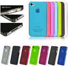 Ultra Thin Frosted Hard Back Case Transparent Matte Cover for Apple iPhone 4/4s