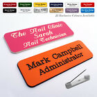 Custom Engraved Name Badge Volunteer Festival Tour Guide Museum Helper  + Fonts