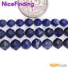 Natural Faceted Blue Lapis Lazuli Gemstone Semi Precious Beads Jewelry Making 15