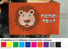 Personalised Cartoon Lion Banner Decoration 11 Colours Flag With 4 Eyelets