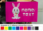 Personalised Cartoon Rabbit Banner Decoration 11 Colours Flag With 4 Eyelets