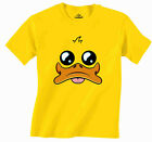 Rubber Duck Cute Cartoon Style Design 100% Cotton Men Yellow T Shirt