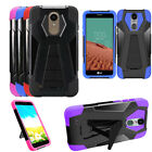 Phone Case For TracFone LG Rebel 3 (L157BL)(L158VL) Rugged Cover Wide Stand