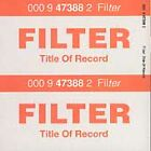 Title of Record by Filter (CD, Aug-1999, Warner Bros.)