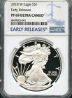 2018 W Silver Eagle Early Releases NGC PF69 Ultra Cameo BLUE ( IN STOCK )