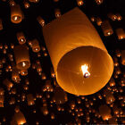 100X Multiple Color Wishing Paper Lantern Chinese Paper Fly Sky Candle Wedding