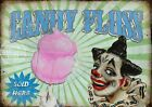 CANDY FLOSS  VINTAGE STYLE FUNFAIR CIRCUS METAL SIGN: 3 SIZES TO CHOOSE