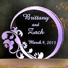 Personalized Wedding Cake Topper Romantic Floral Design Opt LED light 8 Cols