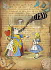 ALICE IN WONDERLAND : QUEEN OF HEARTS : METAL SIGN: 3 SIZES TO CHOOSE FROM