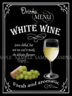 WHITE WINE RETRO PUB,BAR,CLUB,  HOME BAR,METAL SIGN :3 SIZES TO CHOOSE FROM