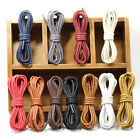 1 Pair New Colorful Cotton Waxed Round Cord String Dress Shoe Laces 60cm-180cm