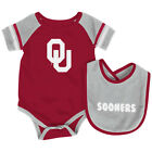 Oklahoma Sooners Colosseum Roll-Out Infant One Piece Outfit and Bib Set