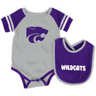 Kansas State Wildcats Colosseum Roll-Out Infant One Piece Outfit and Bib Set