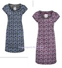 MISTRAL SCATTER FLORAL PRINT JERSEY COTTON TUNIC DRESS BLUE OR PLUM SZ 8-18 NEW