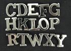 Ex Police Chrome Nickel Collar Epaulette Letters  Security Shoulder Film A3