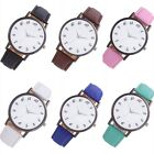 New Fashion Women Sport Leather Stainless Steel Analog Quartz Wrist Watch