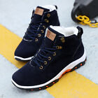 Men's Casual Winter Snow Warm Fur Lined Ankle Boots High Top Trainers Work Shoes