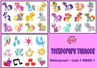 MY LITTLE PONY  temporary  tattoos cutie marks LAST1 WEEK party