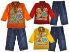 Boys Toddler Best Voyage Long Sleeve Polo Shirt & Denim Jeans Set 12 - 36 Months